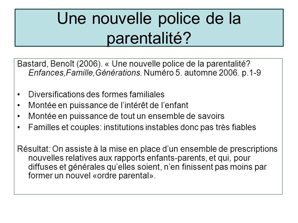 Une nouvelle police de la parentalité