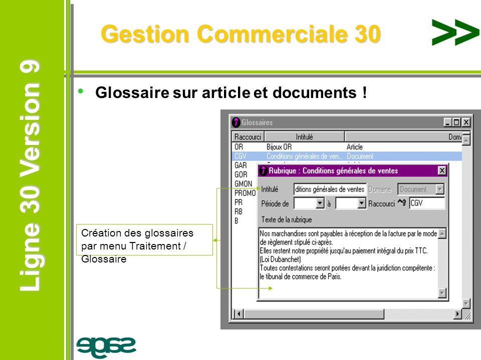 Gestion Commerciale 30 Glossaire sur article et documents !