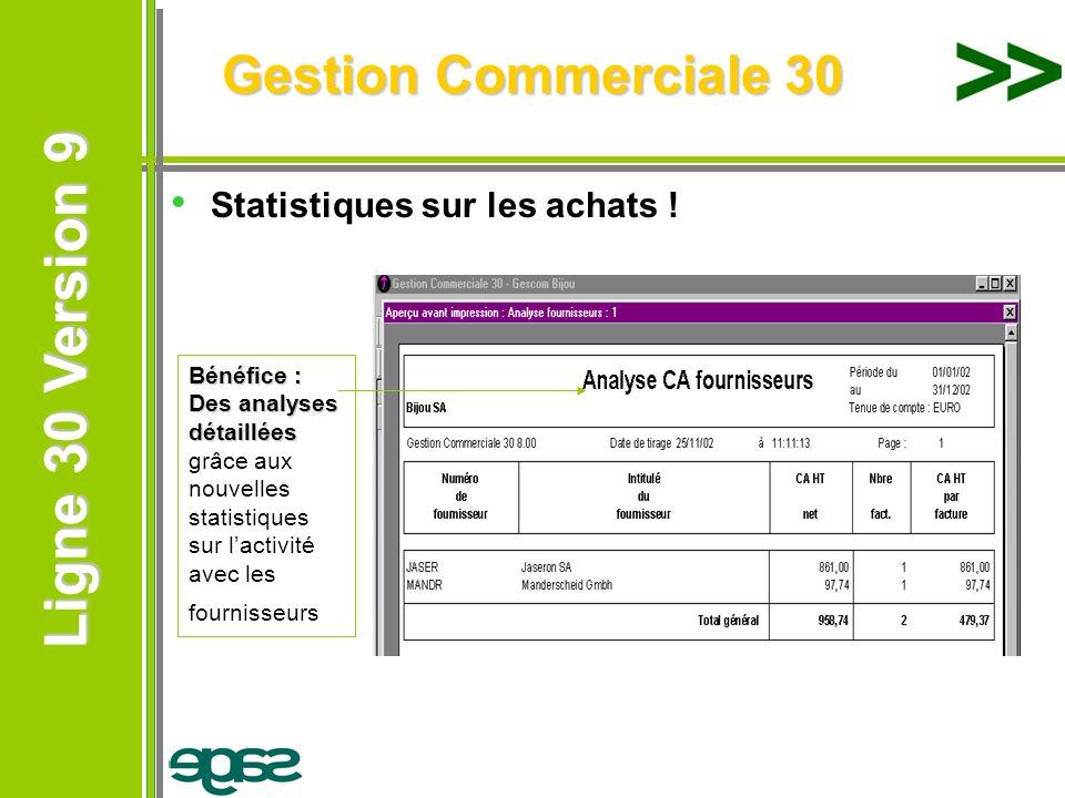 Gestion Commerciale 30 Statistiques sur les achats !