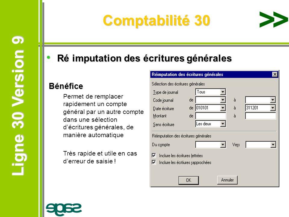 Comptabilité 30 Ré imputation des écritures générales Bénéfice