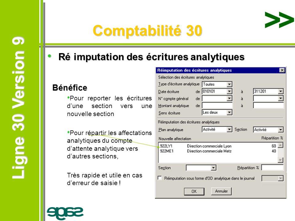 Comptabilité 30 Ré imputation des écritures analytiques Bénéfice