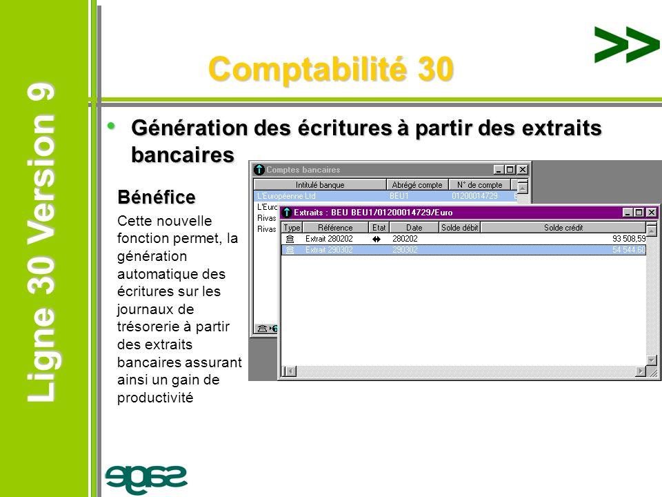 Comptabilité 30 Génération des écritures à partir des extraits bancaires. Bénéfice.