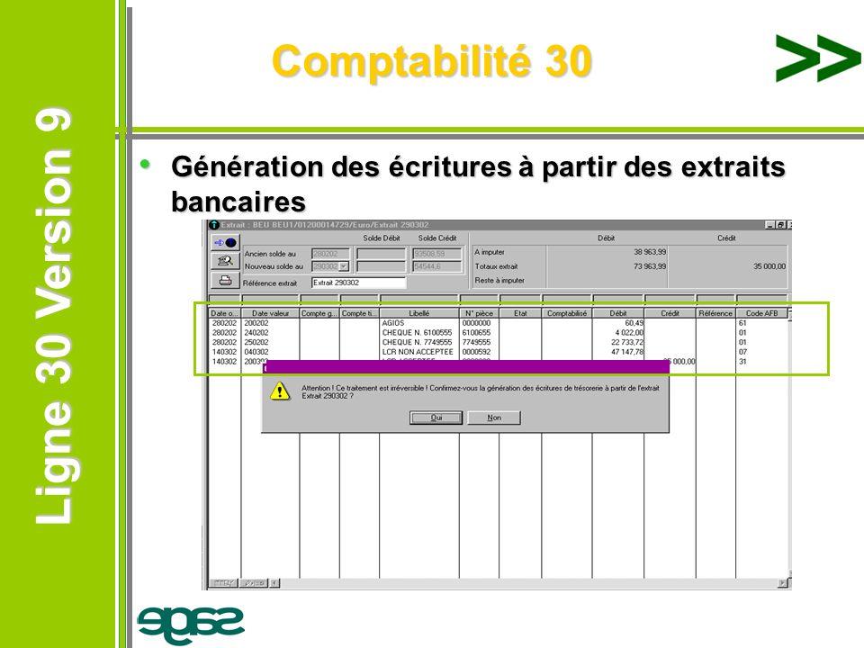 Comptabilité 30 Génération des écritures à partir des extraits bancaires