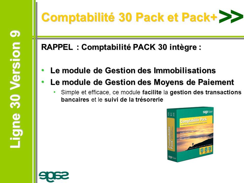 Comptabilité 30 Pack et Pack+