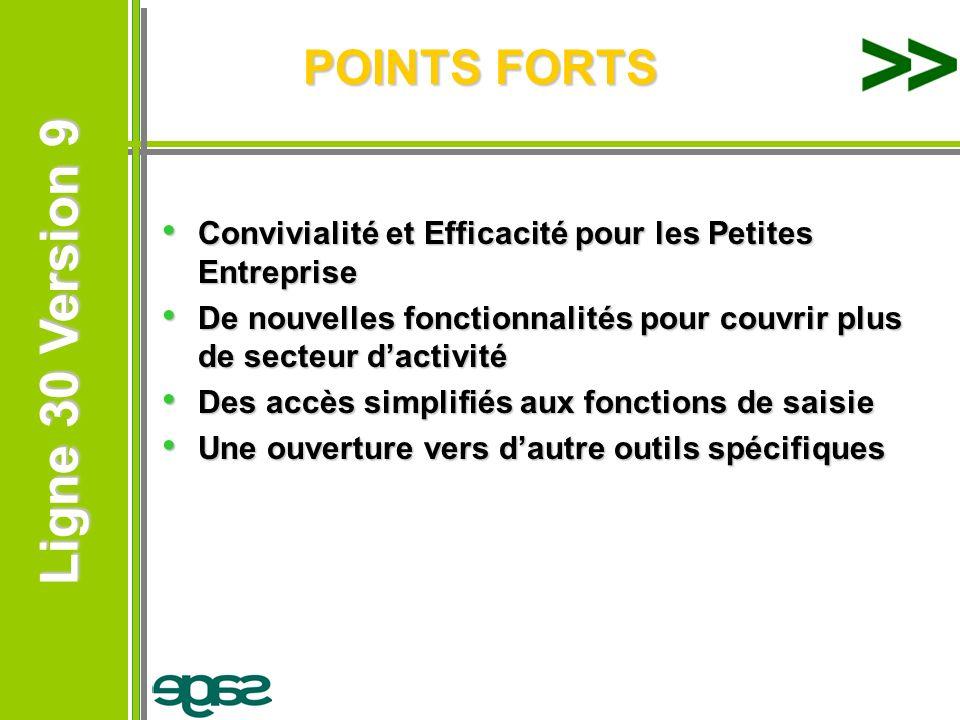 POINTS FORTS Convivialité et Efficacité pour les Petites Entreprise