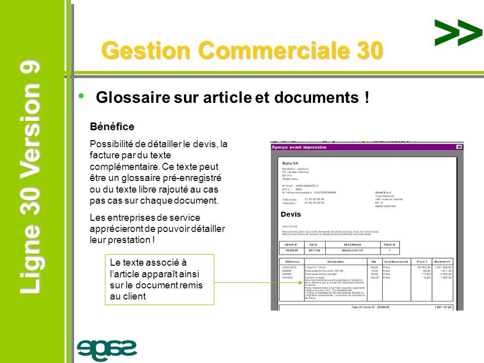 Gestion Commerciale 30 Glossaire sur article et documents ! Bénéfice