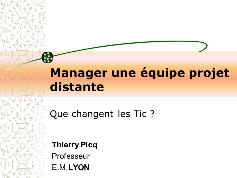 Manager une équipe projet distante Que changent les Tic