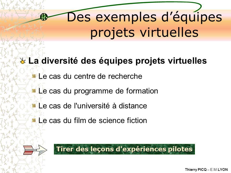 Des exemples d'équipes projets virtuelles