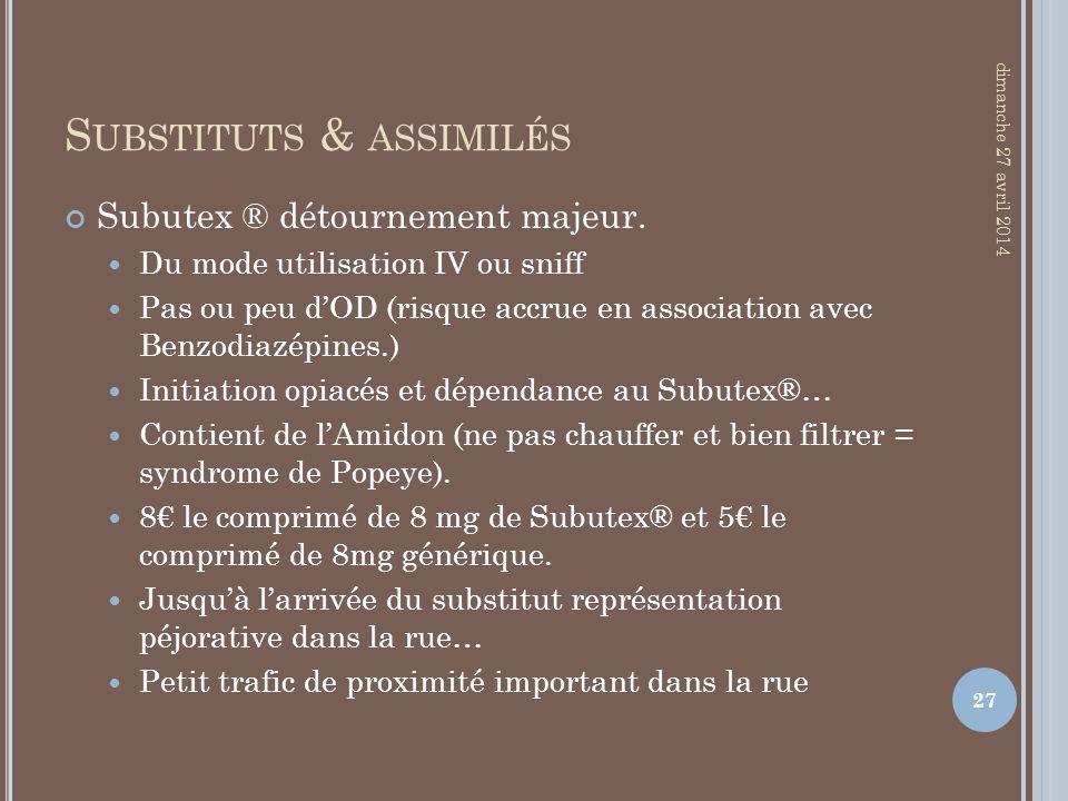 Substituts & assimilés