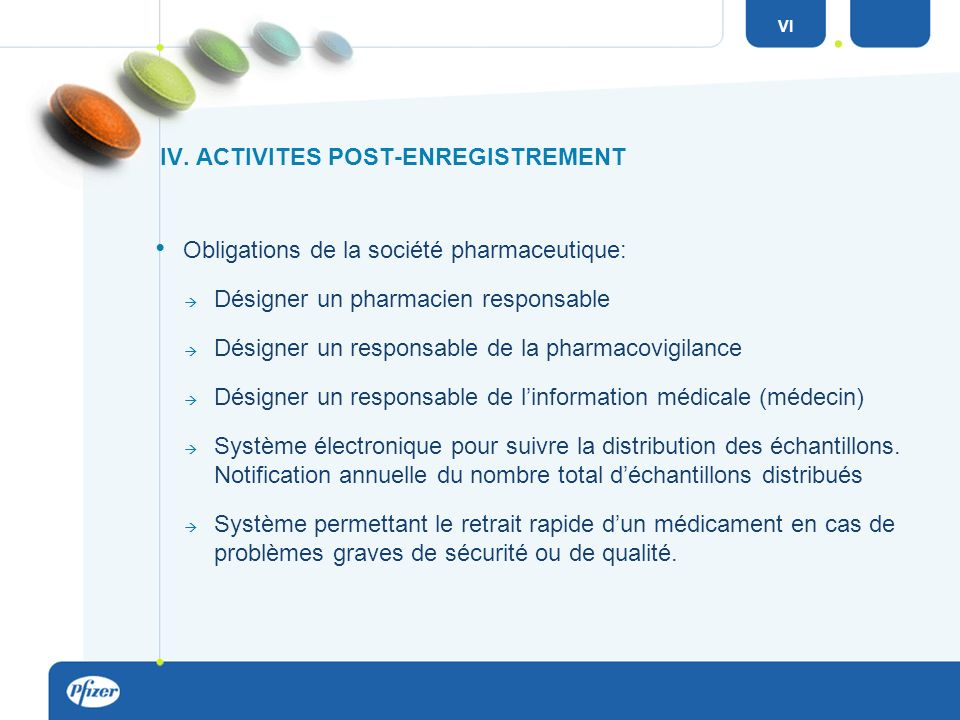 IV. ACTIVITES POST-ENREGISTREMENT