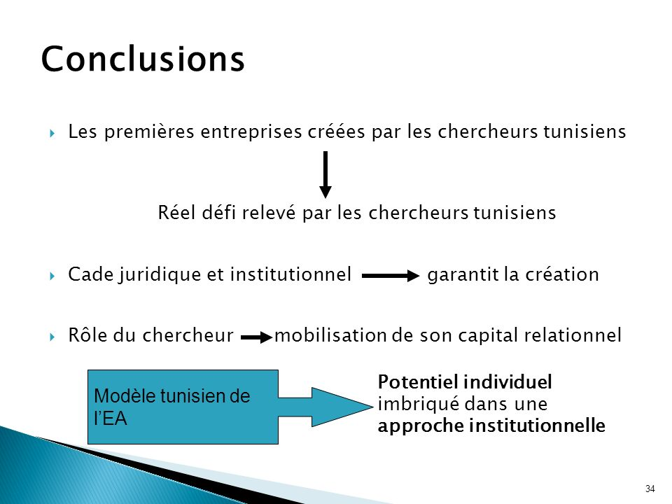 Réel défi relevé par les chercheurs tunisiens