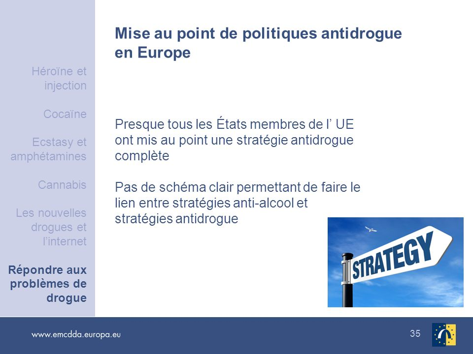Mise au point de politiques antidrogue en Europe