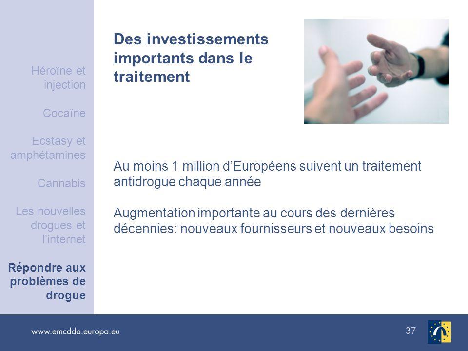 Des investissements importants dans le traitement
