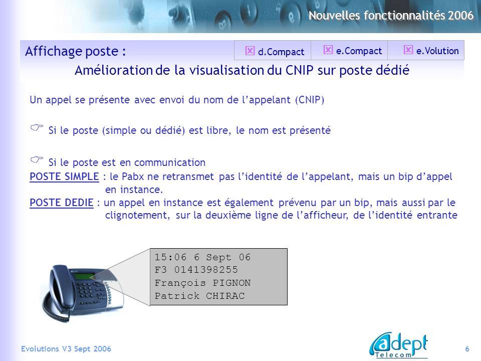 Amélioration de la visualisation du CNIP sur poste dédié