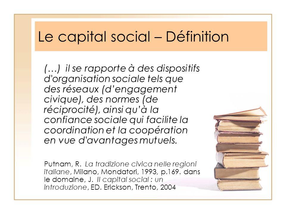 Le capital social – Définition