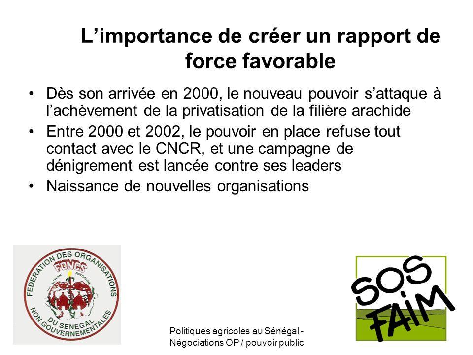 L'importance de créer un rapport de force favorable