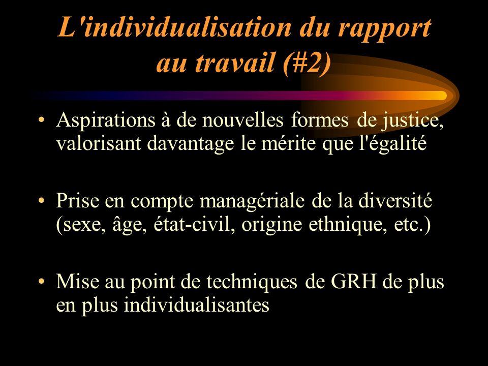 L individualisation du rapport au travail (#2)