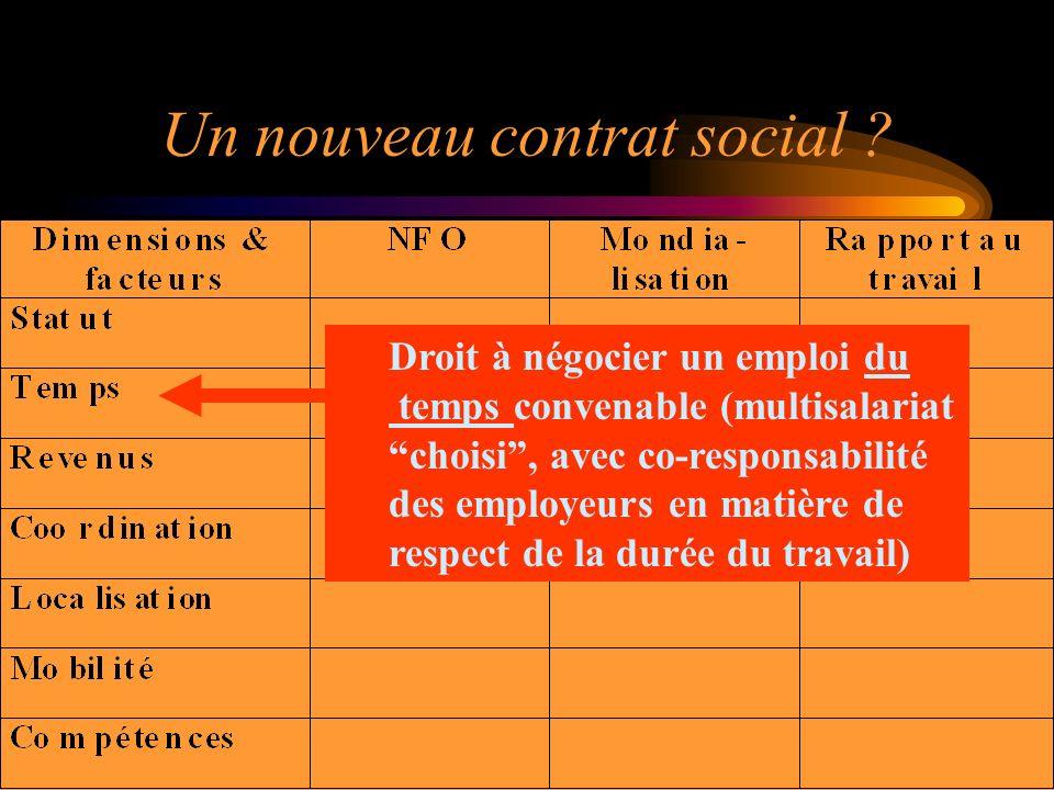 Un nouveau contrat social