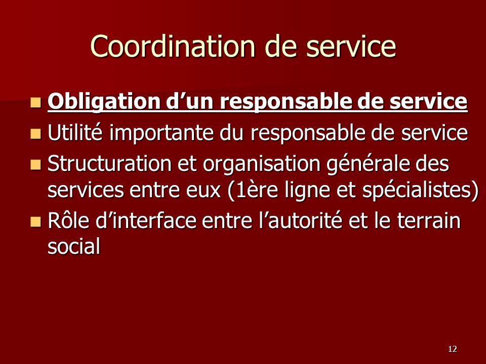 Coordination de service