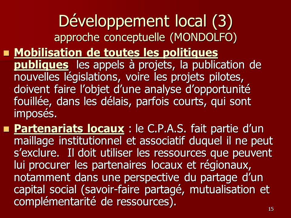 Développement local (3) approche conceptuelle (MONDOLFO)