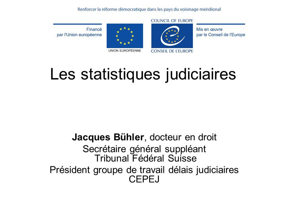 Les statistiques judiciaires