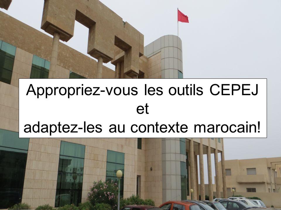 Appropriez-vous les outils CEPEJ et adaptez-les au contexte marocain!