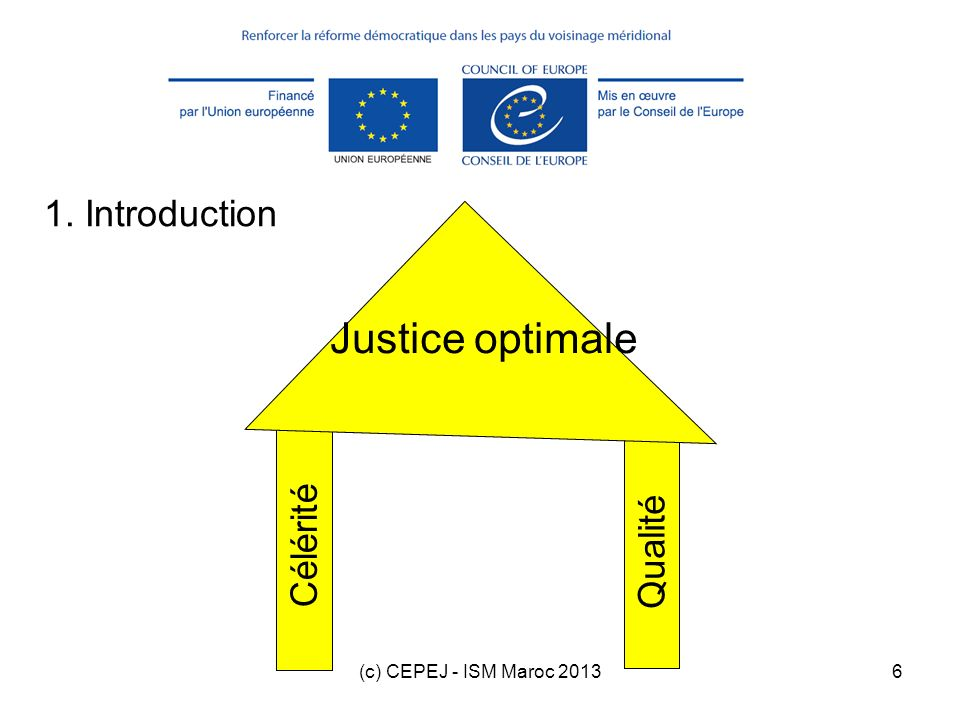 Justice optimale 1. Introduction Célérité Qualité