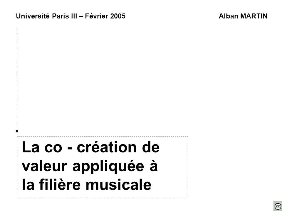 La co - création de valeur appliquée à la filière musicale
