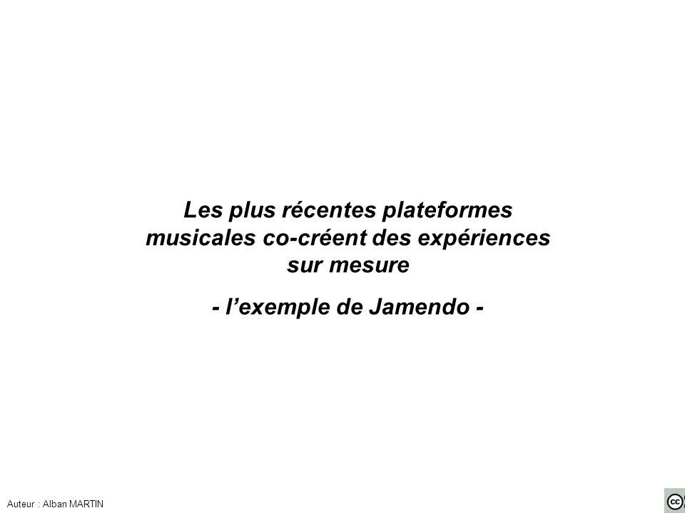 - l'exemple de Jamendo -