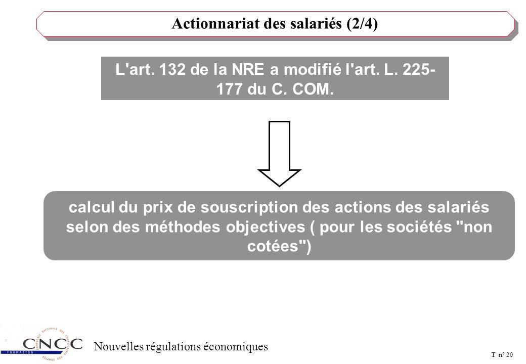 Actionnariat des salariés (3/4)