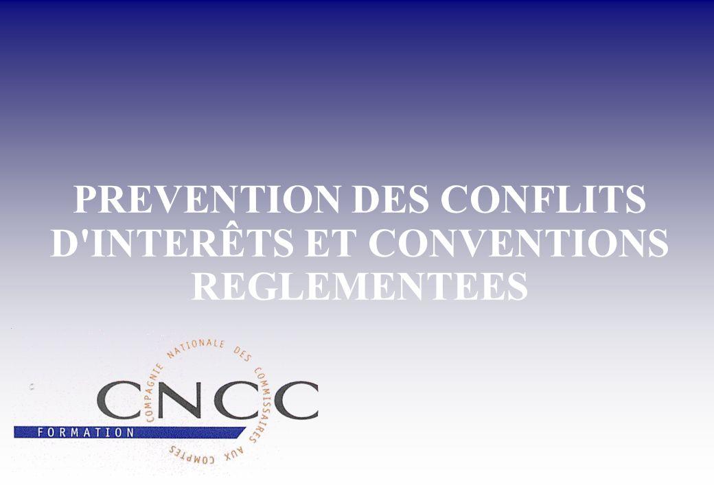 Conflits d intérêts - Conventions réglementées (1/5 )