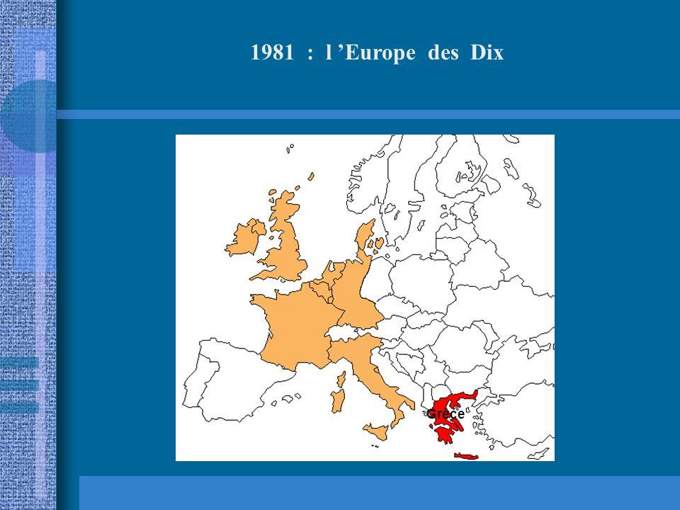 1981 : l 'Europe des Dix Grèce