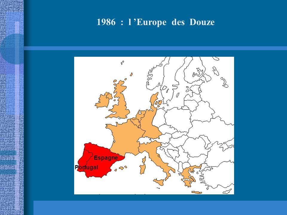 1986 : l 'Europe des Douze Espagne Portugal