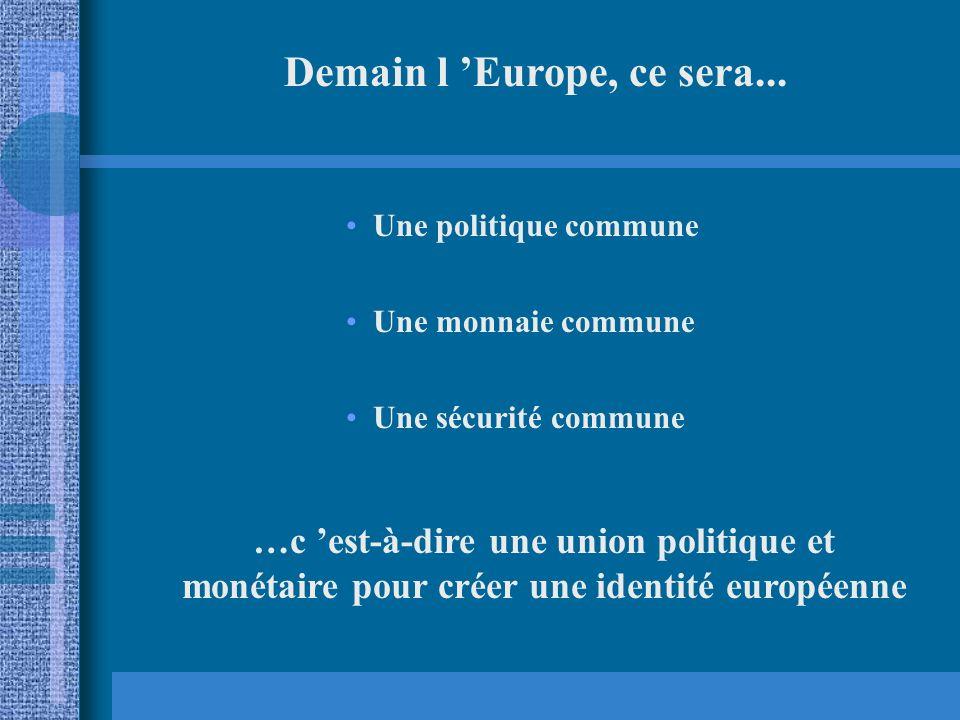 Demain l 'Europe, ce sera...