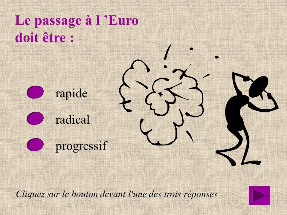 Le passage à l 'Euro doit être :