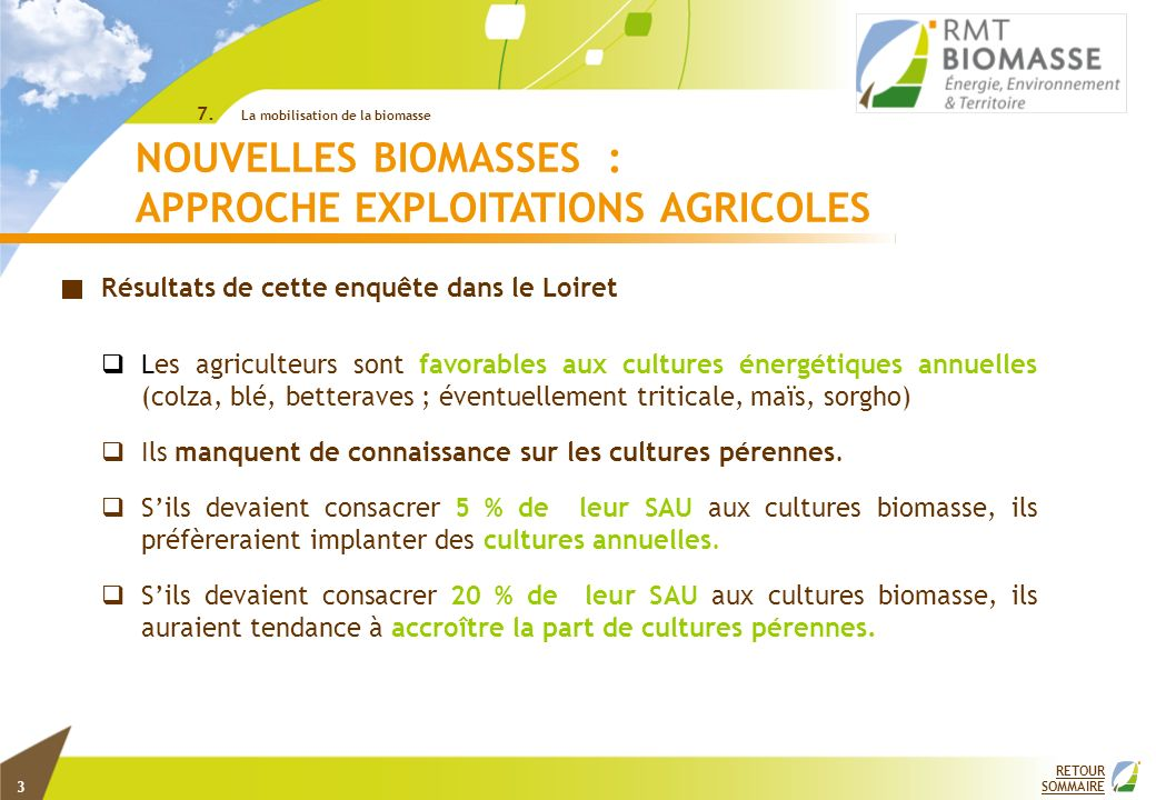 APPROCHE EXPLOITATIONS AGRICOLES