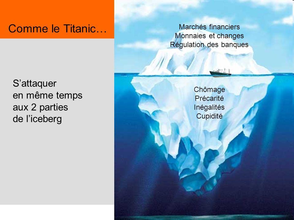Comme le Titanic… S'attaquer en même temps aux 2 parties de l'iceberg