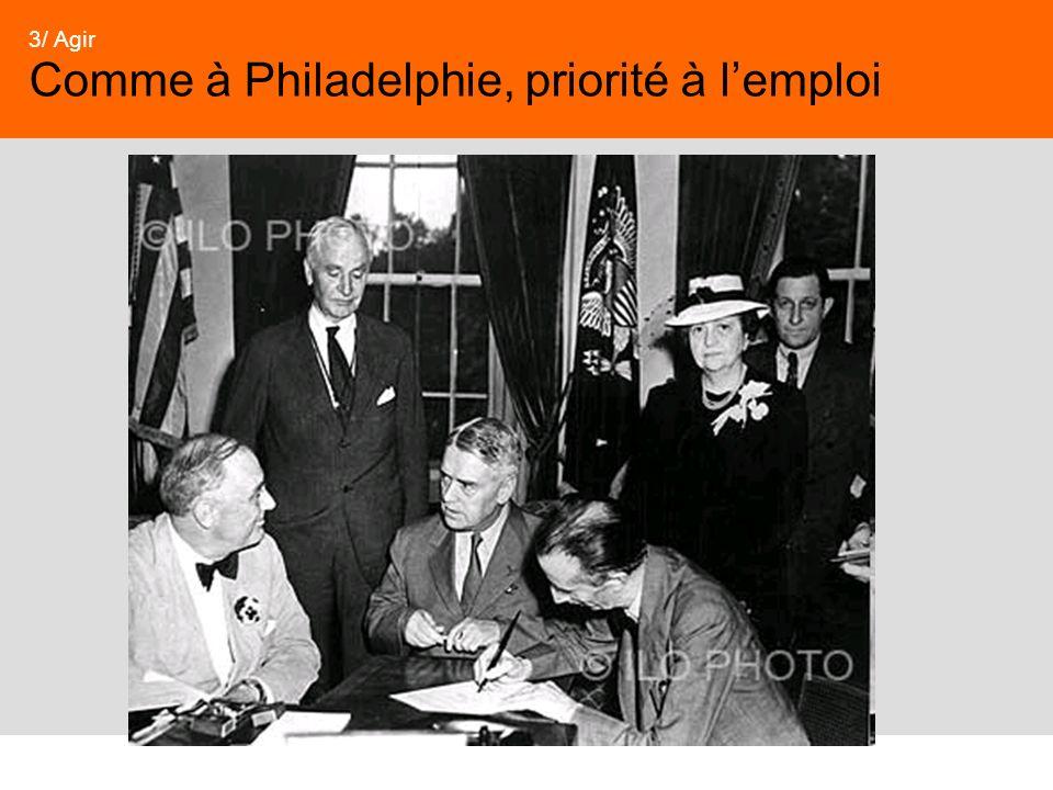 Comme à Philadelphie, priorité à l'emploi