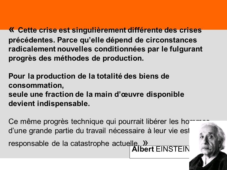 « Cette crise est singulièrement différente des crises précédentes