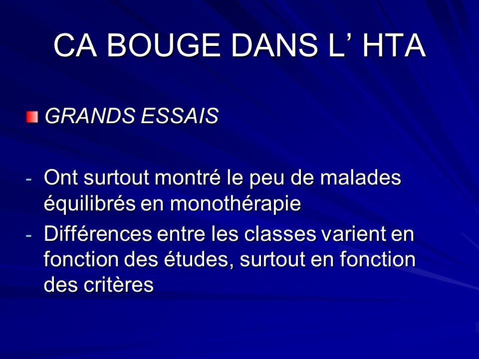 CA BOUGE DANS L' HTA GRANDS ESSAIS