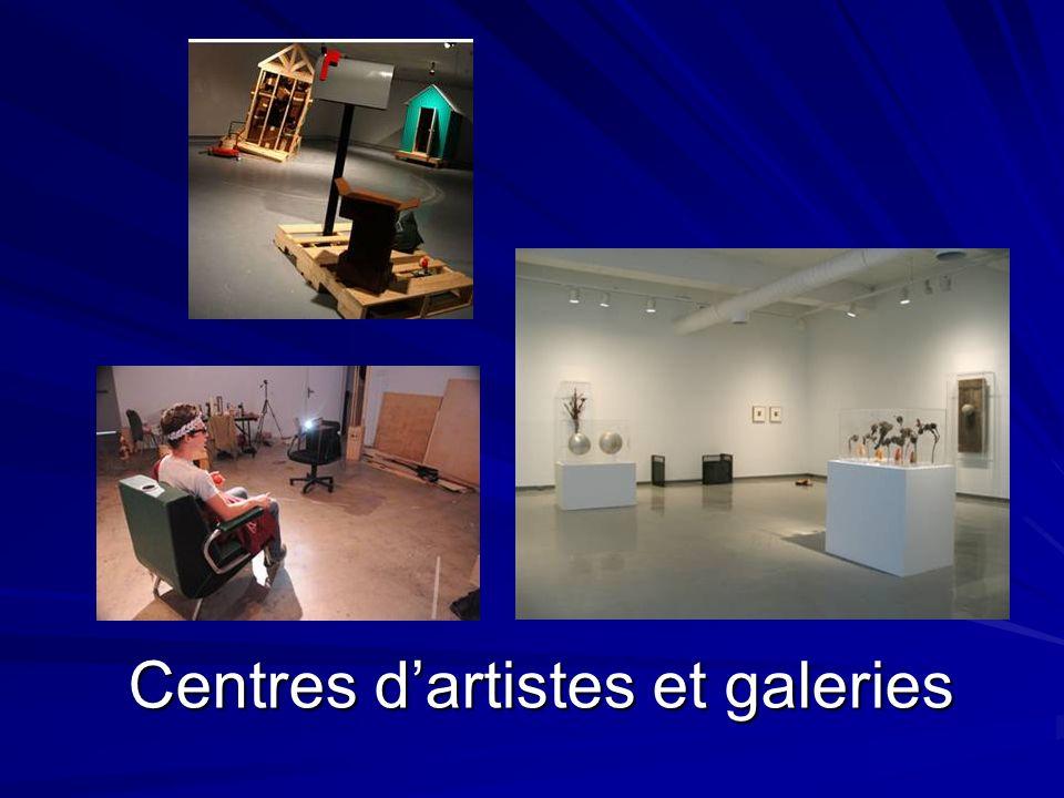 Centres d'artistes et galeries