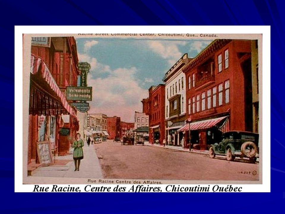 Chicoutimi est donc depuis toujours un secteur d'échange et de commerce.