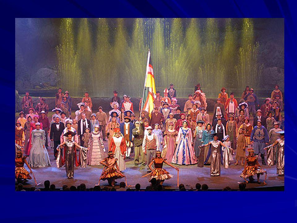 C'est également à cet endroit qu'on a mis sur pied le premier grand spectacle historique au Québec : « La Fabuleuse histoire d'un Royaume », devenu depuis « Les aventures d'un Flo ».