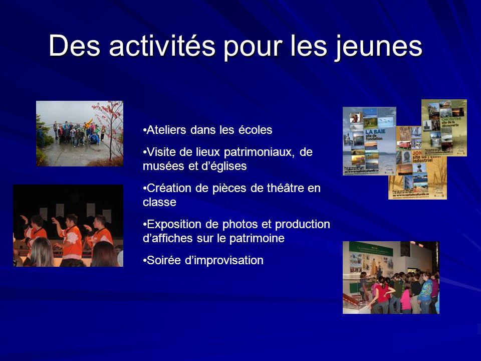 Des activités pour les jeunes