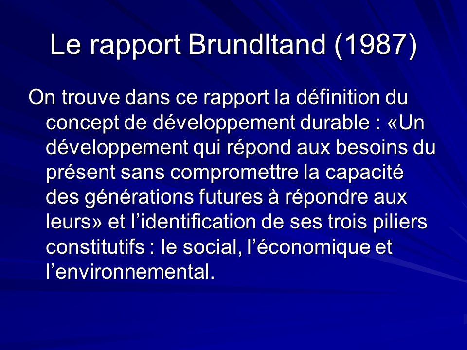 Le rapport Brundltand (1987)