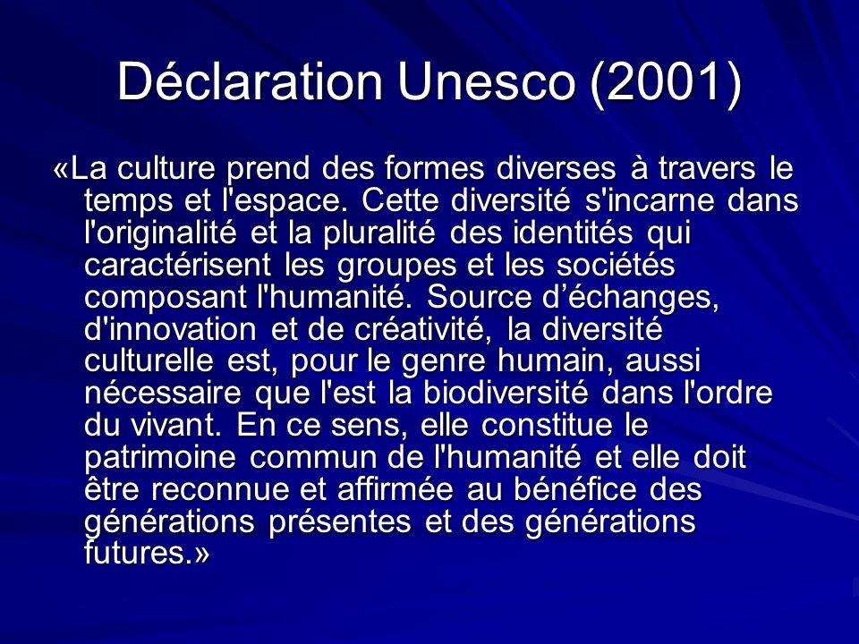 Déclaration Unesco (2001)