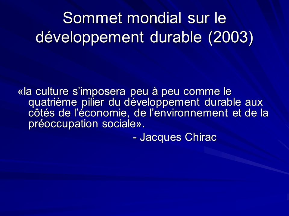 Sommet mondial sur le développement durable (2003)