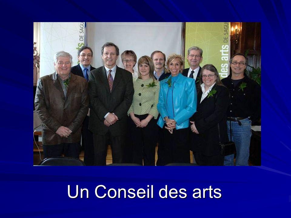 Un Conseil des arts La création du premier conseil des arts après les fusions de 2002.