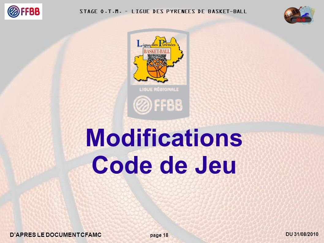 Modifications Code de Jeu