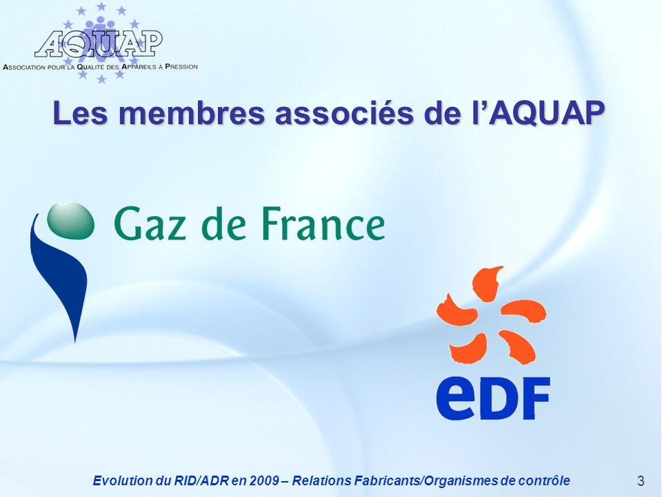 Les membres associés de l'AQUAP